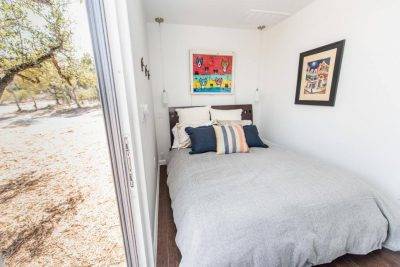 Austin Custom home build with shipping containers bedroom