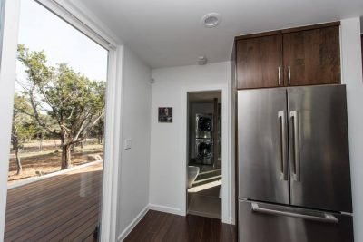 Austin Custom home build with shipping containers kitchen