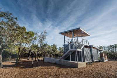 Austin custom home builders home built out of shipping container
