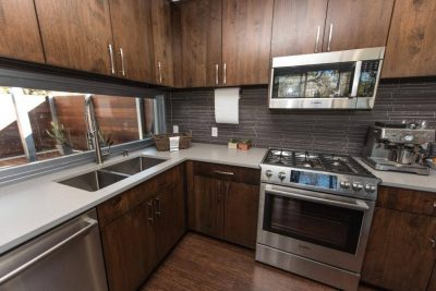 Austin custom home builders shipping container kitchen