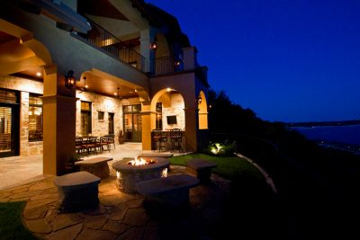 Austin Texas Custom Home Builders outdoor living with views
