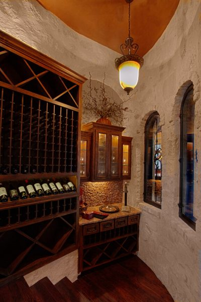 Austin Texas Custom Home Builders wineroom
