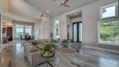 Luxurious open living space Austin custom home builders