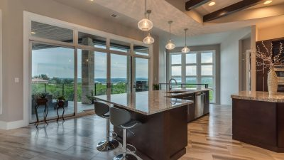 Kitchen with a view Austin custom home builders