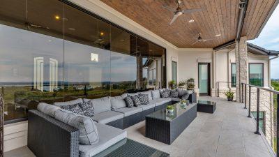 Austin custom home builder balcony outdoor living